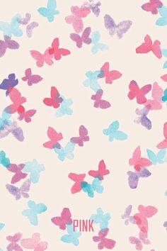 mixerlittlegirl:  Butterfly Pink VS Wallpaper on We Heart It - http://weheartit.com/entry/81599874  iPhone Wallpaper