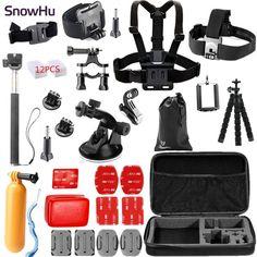 SnowHu for Gopro Accessories Set Chest Head Wrist Mount Strap Hand bobber for Go pro Hero 5 4 3+ XiaomiYi SJCAM Camera TZ26