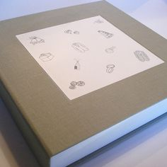 Custom Clam Shell Box for Wedding Scrapbook by Transient Books