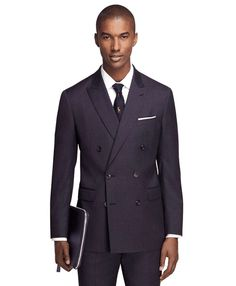 Brooks Brothers | Milano Fit Double-Breasted 1818 Suit #brooksbrothers #suit