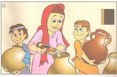 Platen van Elisa en de weduwe / Baú de Recursos para o Ministério Infantil: Eliseu