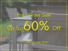 Order NOW and save up to 60% for Homeless Furniture & Danish Loft Design Co.'s new outdoor collections! Unbeatable Pre-Order Sale only until 20th October 18!!! Top quality and workmanship guaranteed!!!! สั่งซื้อเฟอร์นิเจอร์ที่ร้านโฮมเลสตอนนี้ประหยัดเงินได้มากถึง60% กับ เดนิช ลอฟ ดีไซน์ outdoor คอลเลกชั่นใหม่! ราคาถูกกว่านี้ไม่มีอีกแล้ว รีบๆ สั่ง นะคะ ลดถึงวันที่20 ตุลาคม 2561 นี้เท่านั้น!!! งานฝีมือ คุณภาพชั้นเยี่ยม!!!!!