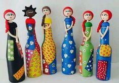 Boneca de Garrafa feitas especialmente para você. Mais de 450 Boneca de Garrafa: boneca de garrafa de vidro, garrafa decorada com biscuit, garrafa para decoracao, pregador com biscuit, boneca de pano diversas cores