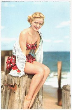 ruffles! #beach #summer #1950s #vintage #swimsuit