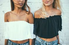 love everything about this. off the shoulder obsession for summer