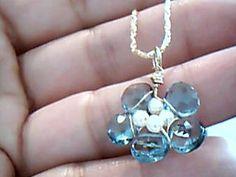 Etsy jewelry Lilyb444 London blue topaz White pearl by Lilyb444, $120.00-https://www.etsy.com/treasury/NTM4ODMzM3wyNzIxOTkwNTgx/the-team-dream-garden?ref=pr_treasury