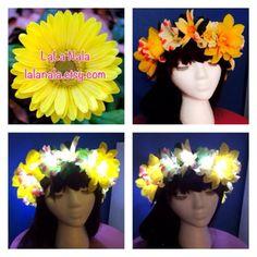 LED Light up Flower Crown for Festivals, EDC, EDM Raves or Concerts on Etsy, $34.99