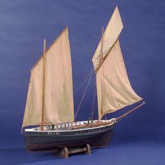 Ganges (1873); Fishing vessel; Lugger; Cornish lugger - National Maritime Museum