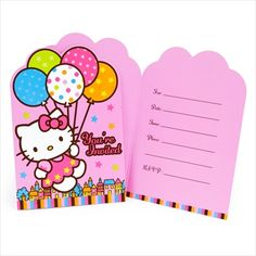 Entertaining birthday party supplies for Hello Kitty lovers.