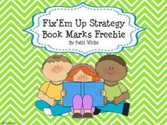 Fix'Em Up Strategy Book Marks Freebie from ASeriesof3rdGradeEvents on TeachersNotebook.com -  (4 pages)  - These cute bookmarks are a great tool for your students who get stuck while reading and need ideas on what to do in order to comprehend and move on!