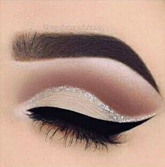 Makeup eyebrows eyeshadow eyeliner mascara false lashes goals make up glitter liner natural matte