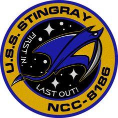 USS Stingray Ship's Seal by viperaviator on DeviantArt Star Trek Emblem, Star Trek Logo, Us Navy Submarines, Star Trek Characters, Military Insignia, Star Trek Ships, Star Trek Universe, Sci Fi Art, Seal