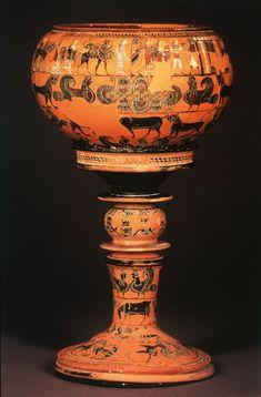 dinos by Sophilos Greek Artifacts, Roman Artifacts, Greece Art, Roman Era, Old Pottery, Greek History, Minoan, Corinthian, Ancient Greece