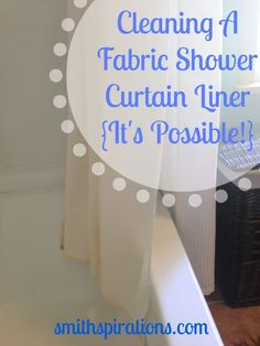 You can get your inner fabric shower curtain liner really clean with just two simple ingredients, and one is water!