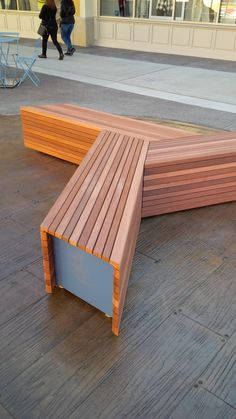 Cedar bench,  Montreal, Canada