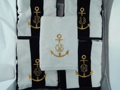 Monogrammed Beach towels  Personalized Towel by EmbroiderybySharon