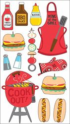 Sticko Classic Stickers - King Of The Grill - Click to enlarge