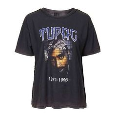 Tupac Tee by and Finally ($36) ❤ liked on Polyvore featuring tops, t-shirts, loose fit t shirts, vintage style t shirts, cotton t shirt, loose tee and cotton tee