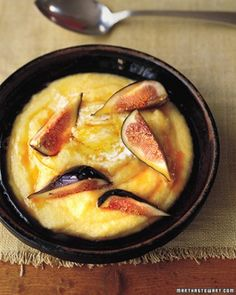 """See the """"Breakfast Polenta with Figs and Mascarpone"""" in our  gallery"""