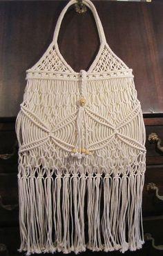 Ladies hippy crochet handbag
