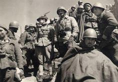 marzo 1941 - Guerra d'Albania - Fronte greco - Postazione della Divisione Julia sul monte Scendèli