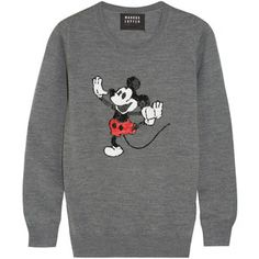 Markus Lupfer + Disney® Dancing Vintage Mickey sequined merino wool sweater