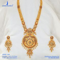 Indian Gold Jewelry Near Me Refferal: 1918344567 Jewelry Sets, Gold Jewelry, Indian Gold Necklace Designs, Or Mat, Gold Bangles, Gold Chains, Wedding Jewelry, Jewelry Collection