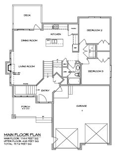 Duplex design 027m 0009 2nd floor plan square feet 2400 for Modified bi level floor plans
