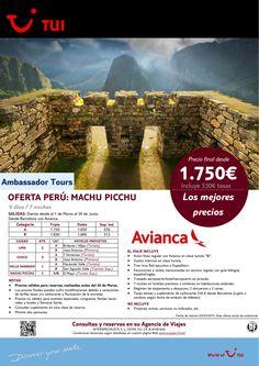 Oferta Perú: Machu Picchu. 7 noches. De Marzo a Junio con AV.Precio final desde 1.750€ ultimo minuto - http://zocotours.com/oferta-peru-machu-picchu-7-noches-de-marzo-a-junio-con-av-precio-final-desde-1-750e-ultimo-minuto/