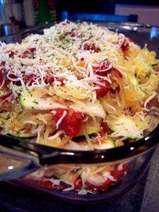 Zucchini and Spaghetti Squash Lasagna