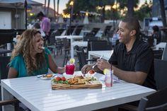 Outdoor dining at Tiki Hut