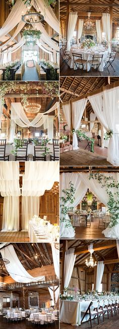 Brilliant Wedding Reception Ideas with Draped Fabric for 2019 Page 2 of 2 is part of Barn wedding reception - Photo Credits Bridal Guide Style Me Pretty Wedding Chicks The Knot Deer Pearl Flowers Once Wed Country Living Mod Wedding Hey Wedding Lady Wedding Reception Ideas, Wedding Venue Decorations, Barn Wedding Venue, Wedding Trends, Wedding Planning, Barn Weddings, Wedding Draping, Wedding Fabric, Barn Wedding Favors