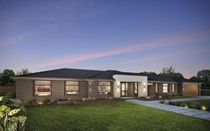 The Davenport is perfect for modern country living with a wide range of facades to take advantage of! Take a look at our Davenport home at Metricon. Interior Exterior, Interior Design, New Home Designs, Modern Country, Fixer Upper, Ideal Home, New Homes, Farmhouse, House Design