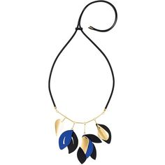 Marni leaf pendant necklace ($475) ❤ liked on Polyvore featuring jewelry, necklaces, black, leaves necklace, marni necklace, leather jewelry, leaf jewelry and leather necklace