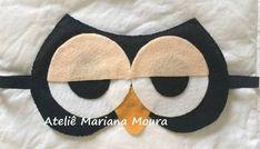 Resultado de imagem para mascara de dormir de coruja de feltro