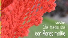 Chal media luna con flores mollie a crochet - Mollie flower crescent moon shawl (English subtitles)!