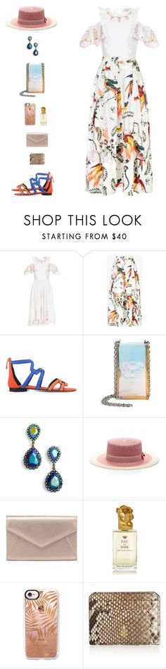 """""""Linda IV"""" by sol4nge ❤ liked on Polyvore featuring Temperley London, Pierre Hardy, Kenzo, Loren Hope, Federica Moretti, Neiman Marcus, Sisley, Casetify, Mark Cross and rio"""