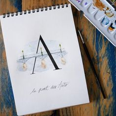 "Je me lance dans un nouveau défi hebdo : créer un abécédaire de Paris ! Une nouvelle lettre illustrée chaque semaine. On commence par le A avec le mythique ""Pont des Arts"" !   New weekly challenge: draw a parisian alphabet. First week begin with a lovely A for ""Pont des Arts""   #abc_calligraphique #parisabecedaire #abecedaire #aquarelle #watercolor #croquis #dessin #drawing #illustration Art Aquarelle, Bullet Journal, Clock, Illustration, Alphabet, Challenge, Diy, Drawing, Pont Des Arts"