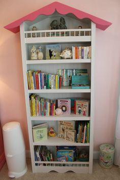 Birdhouse Bookshelf Baby Girl Nursery Shabby Chic
