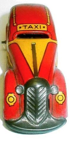 Old 1930's Louis Marx Red Tricky Taxi Tin Litho Windup Toy Table Top Car Works | eBay