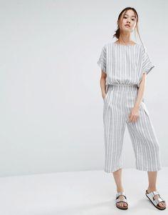 Stripes oversize jumpsuit