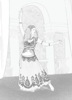 belly dancers coloring pages | ... colour in belly dancer. Color in Coloring in Belly dance, bellydance
