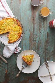 Sausage, Cheddar and Grits Frittata // joy the baker