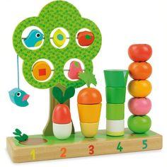 Jouet éducatif - VILAC - J'apprends à compter les légumes