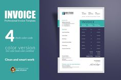 Creative Invoice Template by MRI STUDIO on @creativemarket