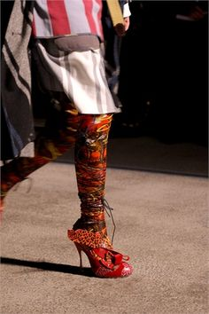 Red Stiletto with Multi-Colored Leopard Prints