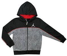 kids jordan elephant print full-zip hoodie