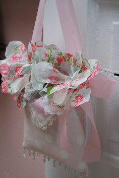 vintage hankie flowers  hankies available @ http://www.nanaluluslinensandhandkerchiefs.com/Ladies_New_and_Vintage_Handkerchiefs_Hankies_s/1921.htm