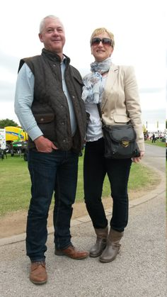 Tracy and Neil Pursglove from Kirmington were the epitome of smart-casual country style. The scarf at the neck just finishes Tracy's outfit nicely. We've got some similar Radley scarves in store at Luck of Louth. Radley, Scottie Dog, Barbour, Good Old, Smart Casual, Well Dressed, Country Style, Dapper, Tweed