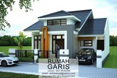 Desain lengkap rumah tinggal 2 lantai di lahan 10×15,6 meter 2 Storey House Design, Small House Design, Dream House Plans, My Dream Home, Roof Design, Exterior Design, Modern Bungalow House, Prefabricated Houses, Minimalist House Design